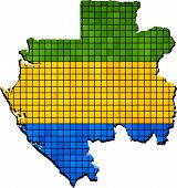 picture of guinea  - Abstract Mosaic Flag and map of Guinea, 