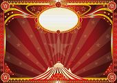 stock photo of school carnival  - Horizontal Red circus background - JPG