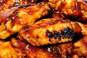 Close-Up of Spicy Chicken Wings poster