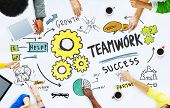 picture of team  - Teamwork Team Together Collaboration Meeting Office Brainstorming Concept - JPG