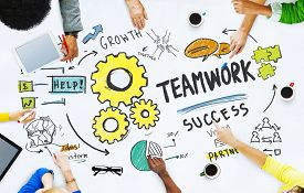 image of union  - Teamwork Team Together Collaboration Meeting Office Brainstorming Concept - JPG