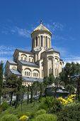stock photo of trinity  - Holy Trinity Cathedral of Tbilisi - JPG