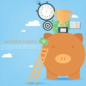 pic of piggy  - Investing in business concept with piggy bank - JPG