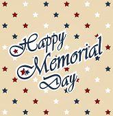 stock photo of memorial  - Happy Memorial Day vintage poster - JPG