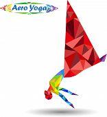 stock photo of anti  - Aerial Yoga - JPG