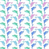 pic of dolphins  - seamless background with dolphins - JPG