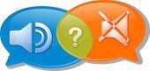 pic of negotiating  - Illustration concept clipart speech bubble dialog conversation negotiation argument loud silent volume vector - JPG