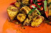 foto of curry chicken  - Close  - JPG
