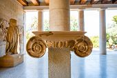 foto of ionic  - Ionic capital in Stoa Attalos in Athens - JPG