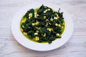 picture of mithai  - Palak paneer is  food with spinach and cheese  on  plate - JPG