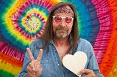 picture of peace-sign  - Hippie middle - JPG