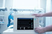 stock photo of intensive care  - Setting equipment in the intensive care ward - JPG