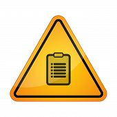stock photo of dangerous  - Illustration of a danger signal icon with a report - JPG
