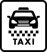 foto of cabs  - taxi car silhouette on white cab icon - JPG
