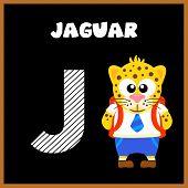 picture of letter j  - The English alphabet letter J Jaguar  - JPG