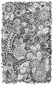 foto of mehndi  - Ethnic floral zentangle - JPG