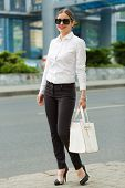 pic of shiting  - Stylish business woman in the big city - JPG
