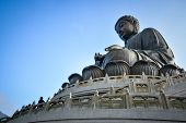 picture of lantau island  - Tian Tan Giant Buddha of Po Lin Monastery Landmark on Lantau Island Hong Kong - JPG