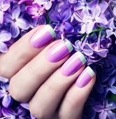 stock photo of  art  - Manicured nails Nail Polish art design - JPG