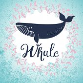picture of whale-tail  - Awesome whale card - JPG