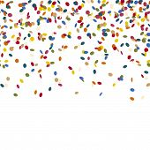 picture of confetti  - colored falling confetti seamless background for carnival party - JPG