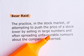 picture of raid  - bear raid word highlighted on the white paper - JPG