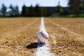 Baseball In A Baseball Field In California Mountains poster