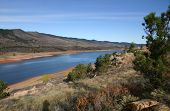 foto of horsetooth reservoir  - horsetooth reservoir near fort collins in colorado - JPG