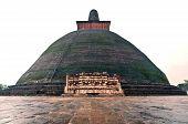 picture of vihara  - big buddha vihara at anuradhapura sri lanka - JPG