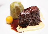 stock photo of chateaubriand  - Elegant tenderloin steak with cabbage and potato mash - JPG