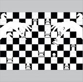 Постер, плакат: chess pieces including king
