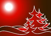 picture of new year 2014  - Christmas tree made of snowflakes - JPG
