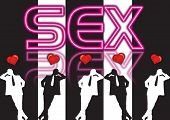 pic of pervert  - illustrations and silhouettes of sexy men with heart - JPG