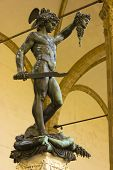 stock photo of perseus  - Statue of Perseus holding the head of the Gorgon Medusa - JPG