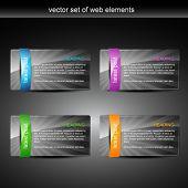 Постер, плакат: дисплей глянцевый web элемент с пространством для вашего текста