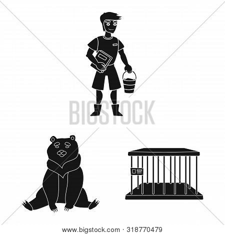 poster of Isolated Object Of Fauna And Entertainment Symbol. Collection Of Fauna And Park Stock Symbol For Web