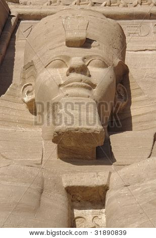 Постер, плакат: Рамсес на Храмы Абу Симбел в Египте, холст на подрамнике