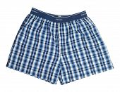 pic of boxer briefs  - Blue briefs boxers isolated with clipping path on white background - JPG
