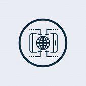 World Globe Icon Isolated On White Background. Www Icon. Www Search Bar Icon. Website Icon. World Gl poster