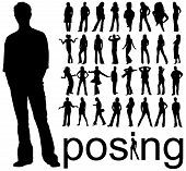 Image of silhouettes posing.