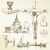 christianity-hand drawn collection