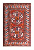 pic of tabriz  - Arabian silk carpet on white background - JPG