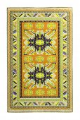 stock photo of tabriz  - Arabian silk carpet on white background - JPG