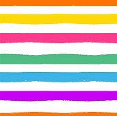 Rainbow Striped Seamless Pattern. Rough Lines Rainbow Repeating Background Vector Texture. Multicolo poster
