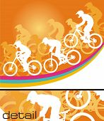 Mountain biker vector (CMYK color profiles)