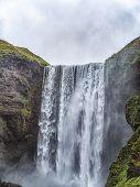 Skogafoss Waterfall, The Biggest Waterfall In Skogar, Iceland poster