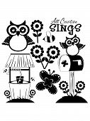 image of wishing-well  - All Creation 1 Clip Art includes owls - JPG