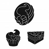 Vector Design Of Sweetness And Product Logo. Set Of Sweetness And Sweet Stock Vector Illustration. poster