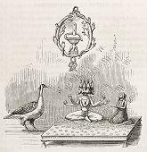 image of saraswati  - Symbolic Trimurti image - JPG