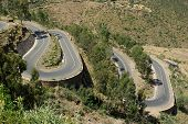 picture of twisty  - A winding road in Ethiopia - JPG